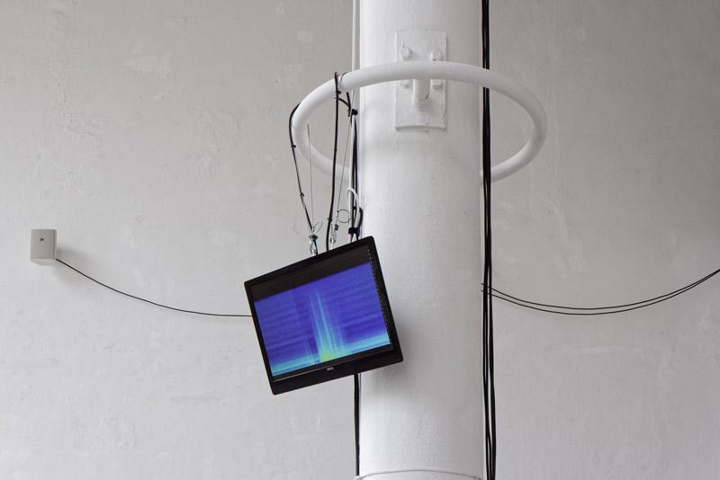Installationsansicht Spektrogramm
