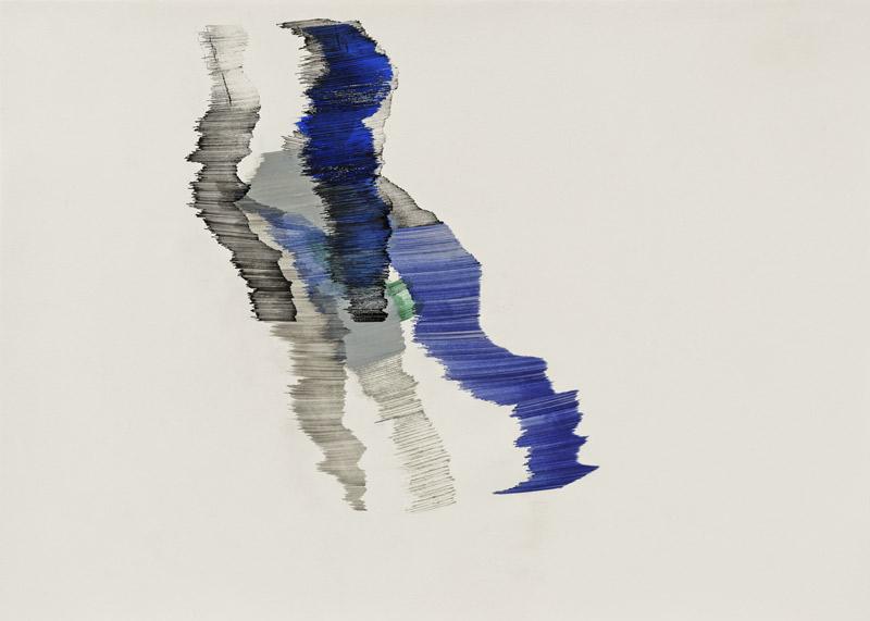 o.T., Nr. 11 (blau-grau), 2015