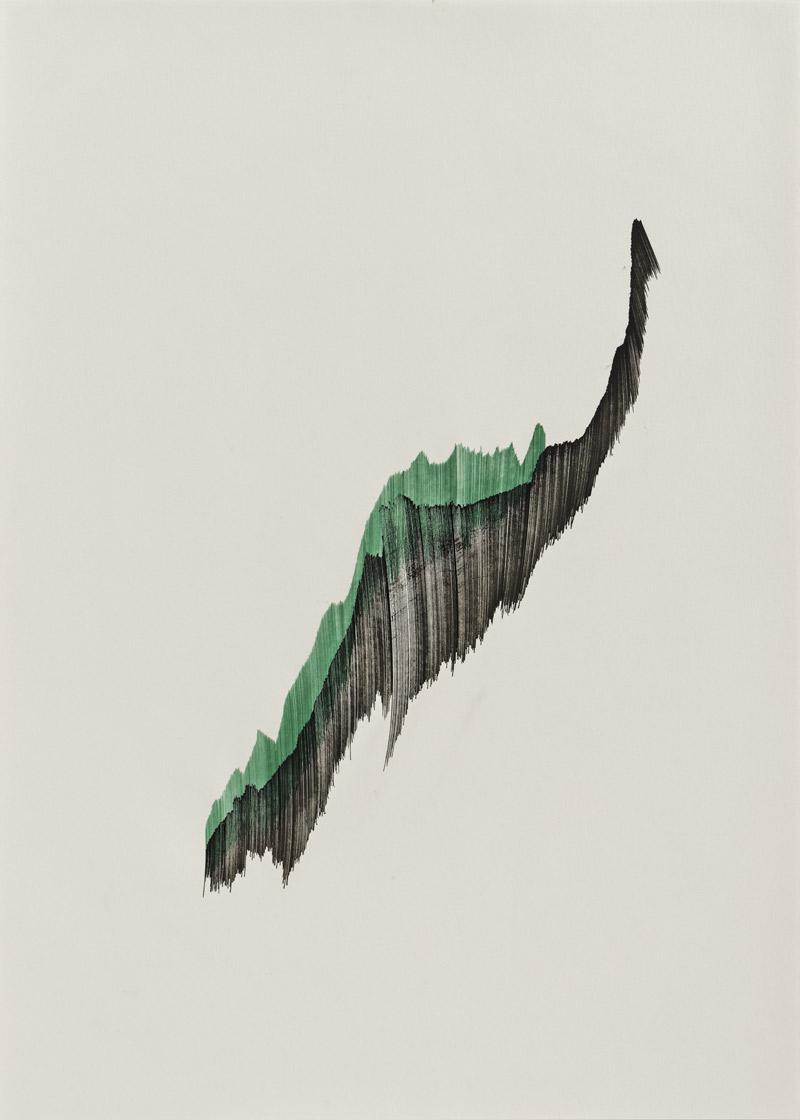 o.T., Nr. 12 (grün-schwarz), 2015